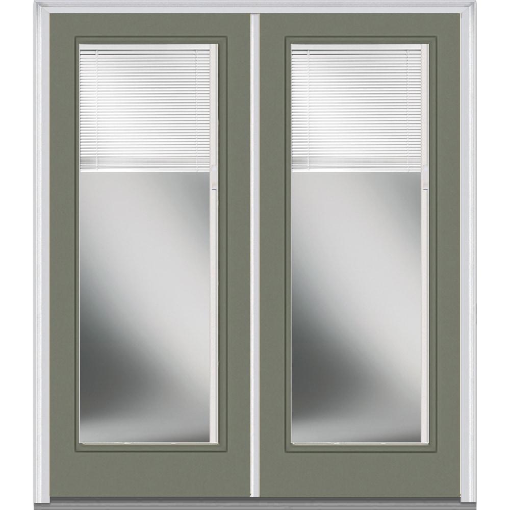 Doorbuild Internal Mini Blinds Collection Fiberglass Smooth Entry Door Naval 72 X80 Full