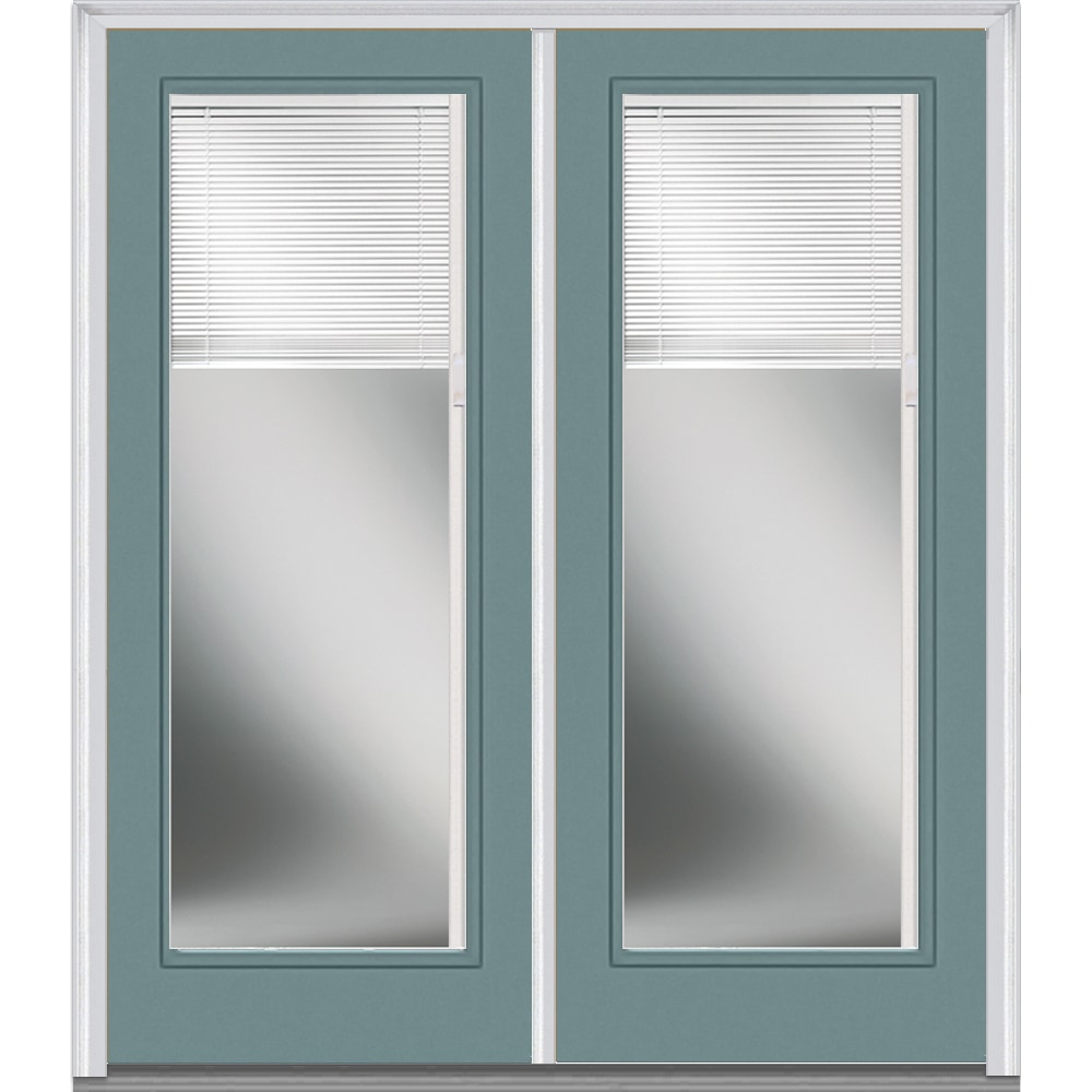 Doorbuild Internal Mini Blinds Collection Fiberglass Smooth Entry Door Riverway 72 X80