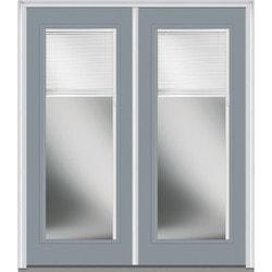 Door Build Internal Mini Blinds Fiberglass Smooth Entry Door Type 150975311 E
