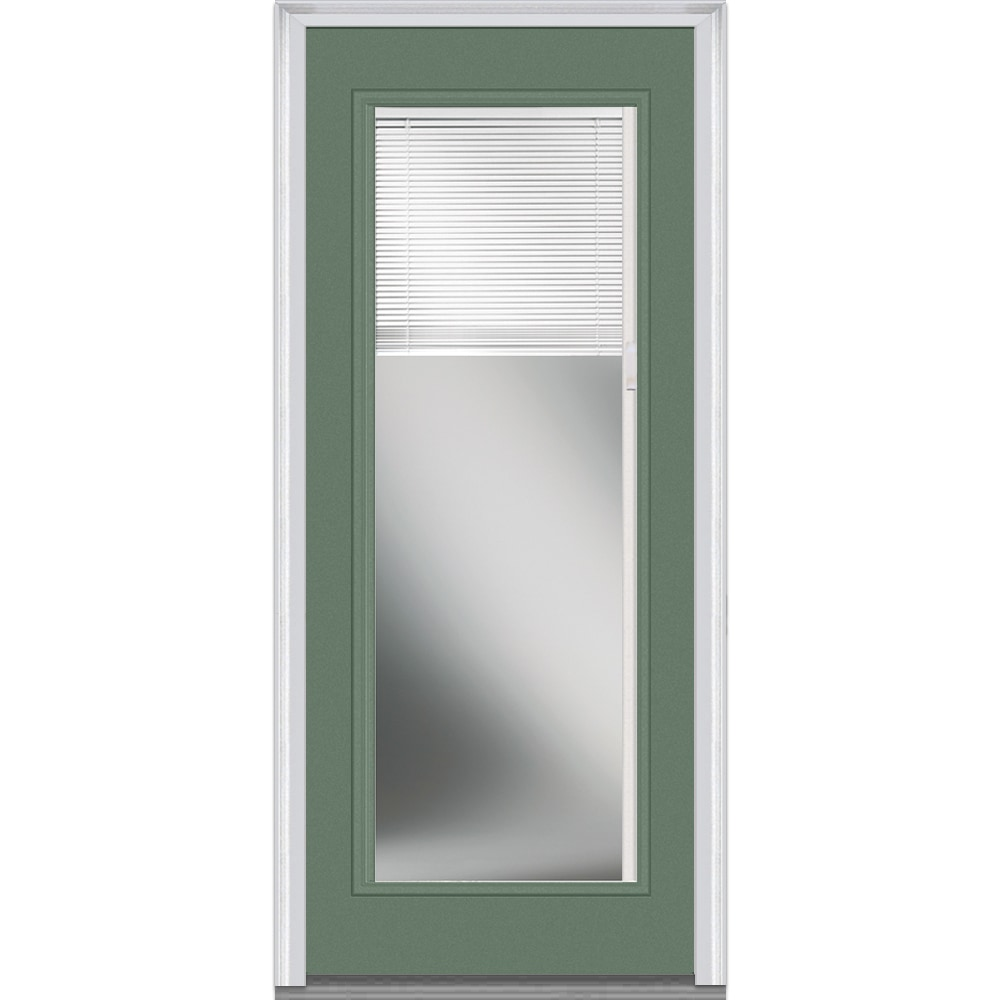 Doorbuild Internal Mini Blinds Collection Fiberglass Smooth Entry Door Rosemary 36 X80