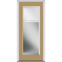Door Build Internal Mini Blinds Fiberglass Smooth Entry Door Model 150982661 Exterior Doors
