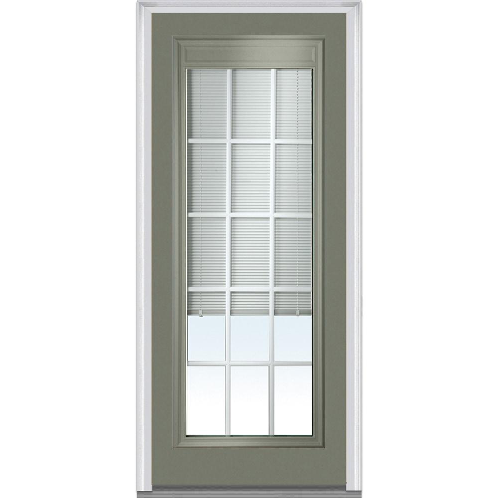 Doorbuild Internal Mini Blinds Collection Fiberglass Smooth Entry Door Naval 36 X80 Full