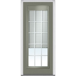 Door Build Internal Mini Blinds Steel Prehung Entry Door Model 150983741 Exterior Doors