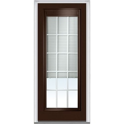 Door Build Internal Mini Blinds Fiberglass Smooth Entry Door Model 150983161 Exterior Doors