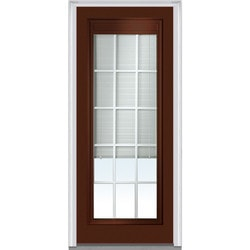 Door Build Internal Mini Blinds Fiberglass Smooth Entry Door Type 150983121 Exterior Doors In