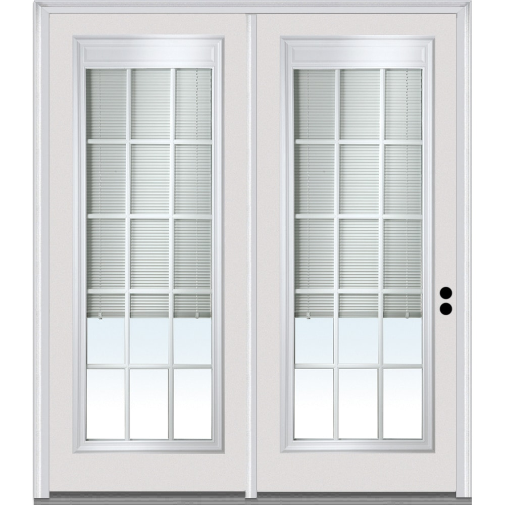 Doorbuild Internal Mini Blinds Collection Steel Prehung Patio Door Primed 68 X80 Full