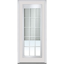 Door Build Internal Mini Blinds Steel Prehung Entry Door Model 150987241 Exterior Doors