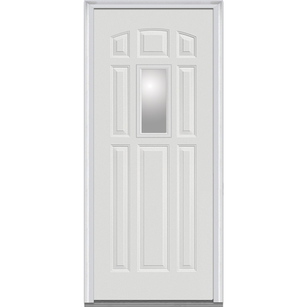 Doorbuild Clear Glass Collection Steel Prehung Entry Door 1 4 Lite 8 Panel Clear Glass Z000737l