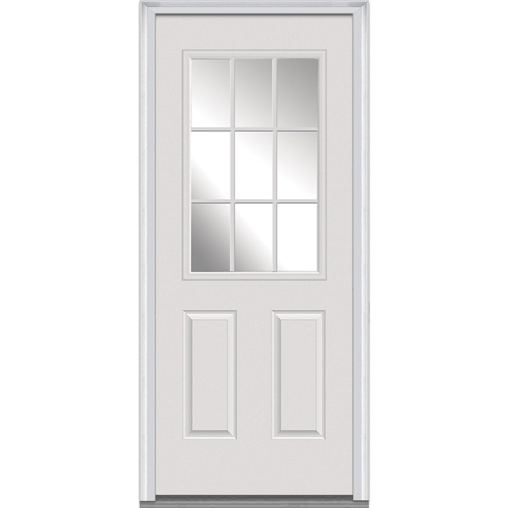 Doorbuild Clear Glass Collection Steel Prehung Entry Door