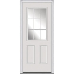 Door Build Clear Glass Steel Prehung Entry Door Model 150442431 Exterior Doors