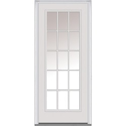 """Clear Glass Collection Steel Prehung Entry Door Door Build 30"""" x 80"""" Exterior Doors Type 150442311 in Canada"""