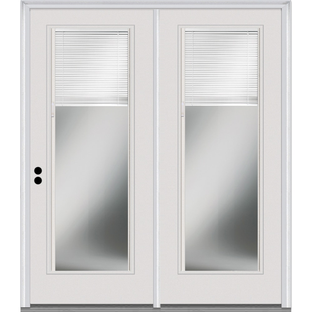 Doorbuild Internal Mini Blinds Collection Fiberglass Smooth Patio Door Primed 60 X80 Full