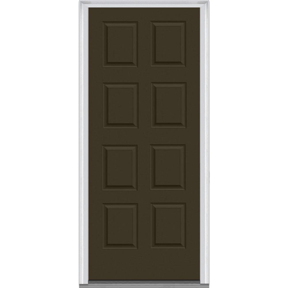 Doorbuild exterior panel collection steel prehung entry door bronze 36 x80 8 panel steel - Exterior steel doors ...