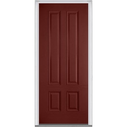 Panel collection fiberglass smooth prehung entry door burgundy 36