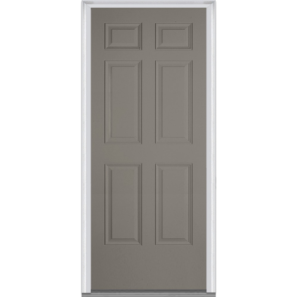 DoorBuild Exterior Panel Collection Steel Prehung Entry Door Dovetail 30