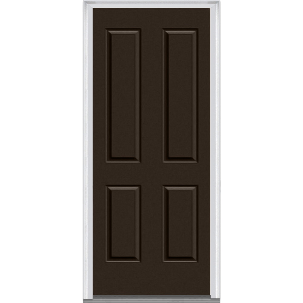 Doorbuild exterior panel collection steel prehung entry for Metal entry doors