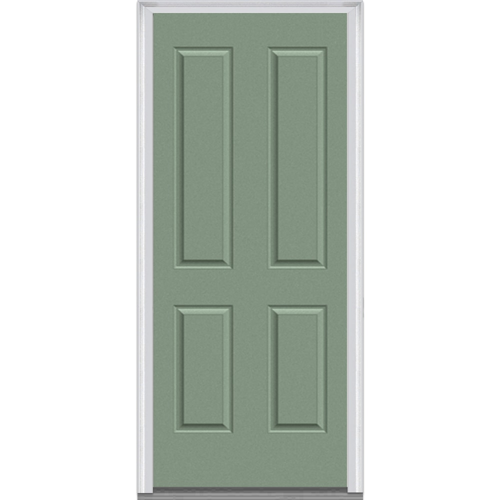 Panel collection fiberglass smooth prehung entry door rosemary 36