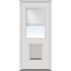 Door Build Internal Mini Blinds Fiberglass Smooth Entry Door Model 150978061 Exterior Doors