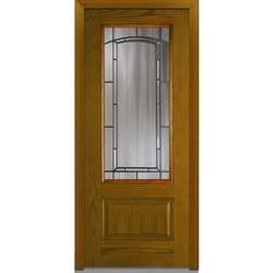 Door Build Solstice Glass Fiberglass Oak Prehung Entry Door Type 151182041 Exterior Doors In