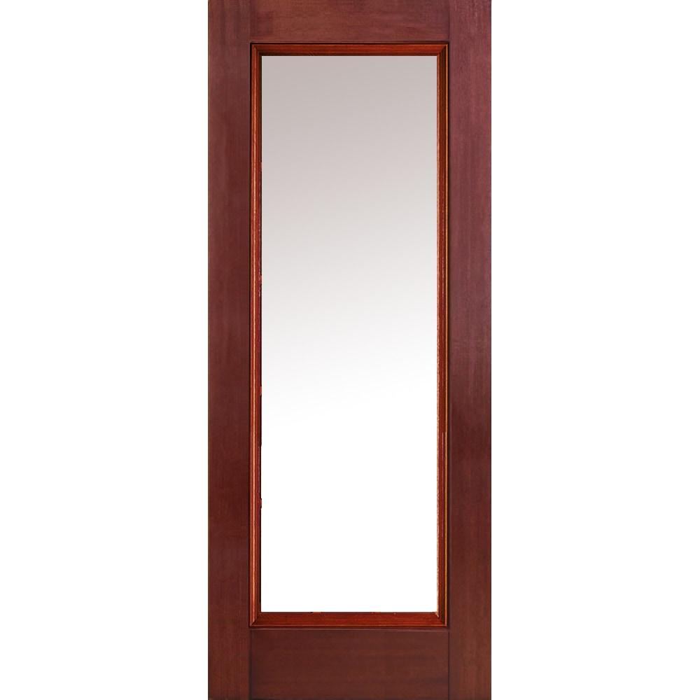 Exterior Fiberglass Door Full Glass : Doorbuild classic collection fiberglass mahogany prehung
