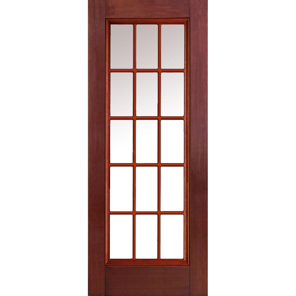 Fiberglass Entry Doors 3 4 Glass With Grilles : Doorbuild classic collection fiberglass mahogany prehung