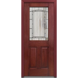 Door Build Solstice Glass Fiberglass Mahogany Prehung Entry Door Type 151181991 Exterior Doors in Canada