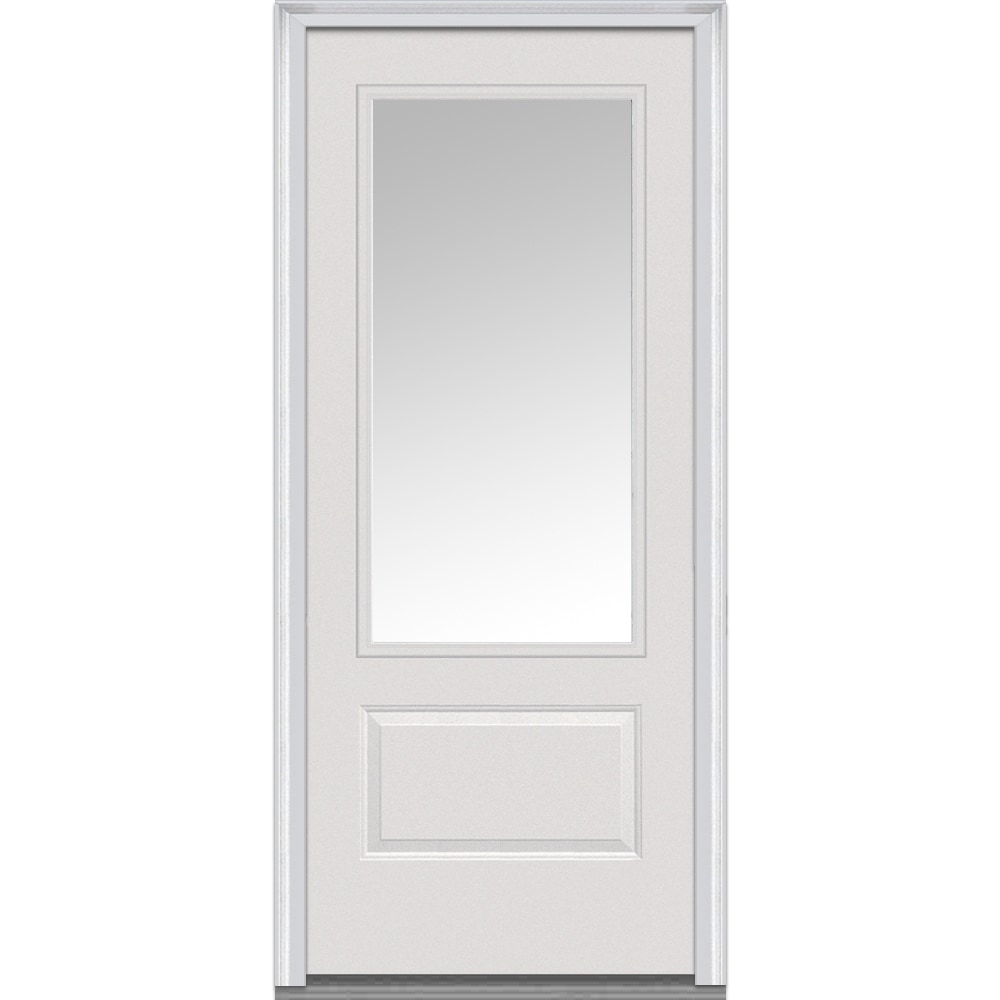 Fiberglass Entry Doors 3 4 Glass With Grilles : Doorbuild clear glass collection fiberglass smooth prehung