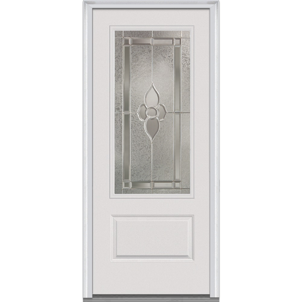 DoorBuild Master Nouveau Glass Collection Fiberglass Smooth Prehung Entry D