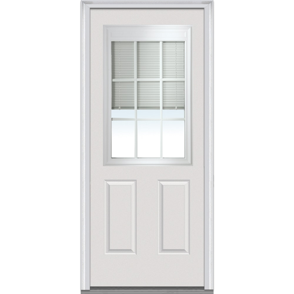 DoorBuild Internal Mini Blinds Collection Fiberglass Smooth Entry Door PRIM