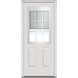 Door Build Internal Mini Blinds Fiberglass Smooth Entry Door Type 150980221 Exterior Doors in Canada