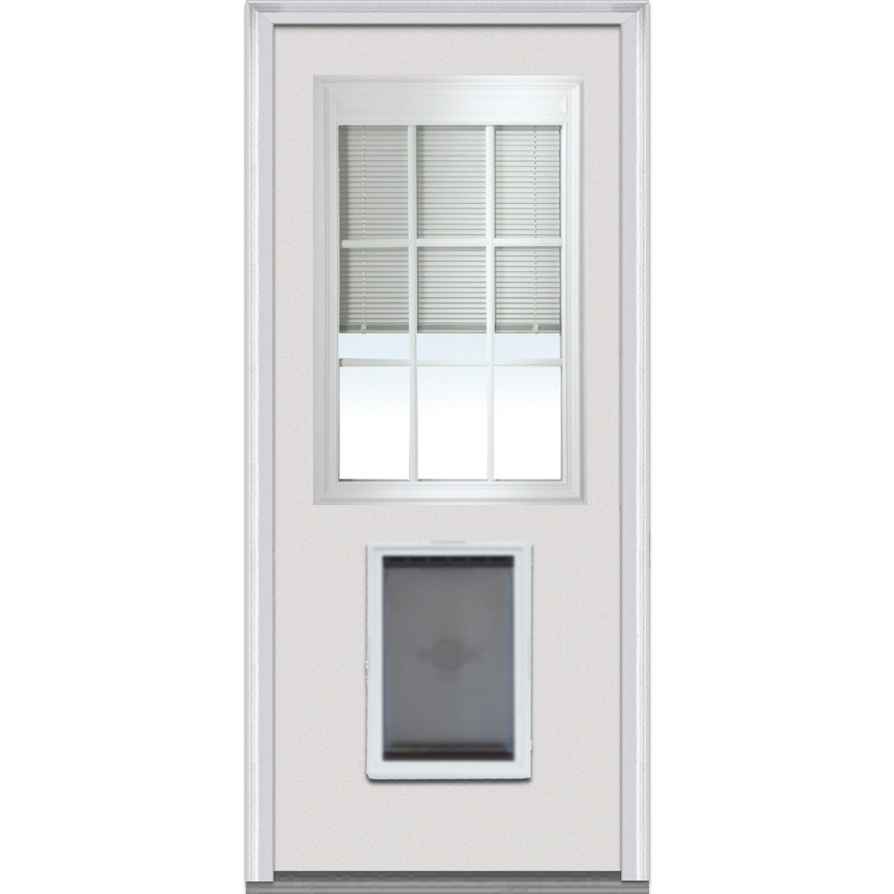 Doorbuild Internal Mini Blinds Collection Steel Prehung Entry Door Primed 36 X80 1 2 Lite