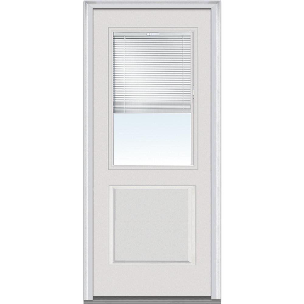 DoorBuild Internal Mini Blinds Collection Fiberglass Smooth Entry Door PRIM