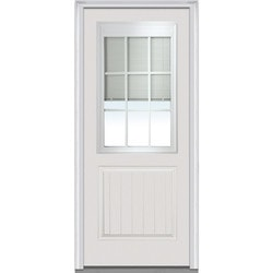 "Internal Mini Blinds Collection Door Build Fiberglass Smooth Entry Door 36"" x 80"" Exterior Doors Type 150975021 in Canada"