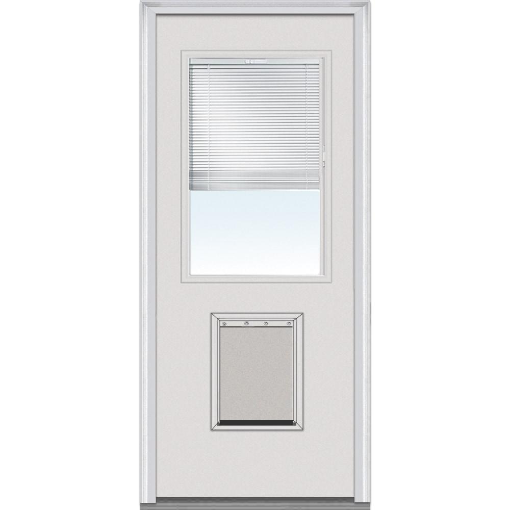 Doorbuild internal mini blinds collection steel prehung - 32x80 exterior door rough opening ...