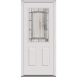 Door Build Solstice Glass Fiberglass Smooth Prehung Entry Door Model 151121401 Exterior Doors