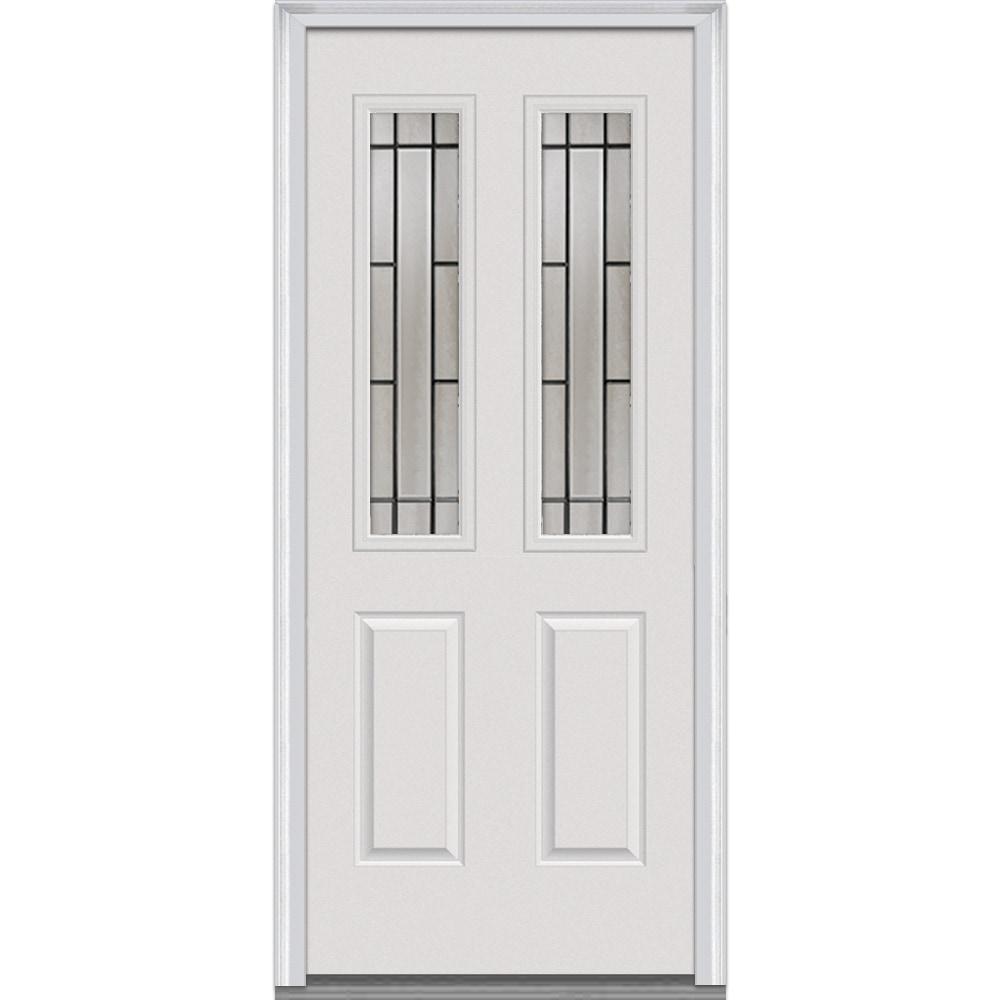 Doorbuild Solstice Glass Collection Fiberglass Smooth Prehung Entry Door Primed 32 X80 2