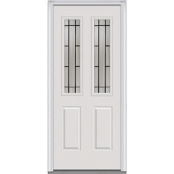 Door Build Solstice Glass Fiberglass Smooth Prehung Entry Door Model 151121471 Exterior Doors