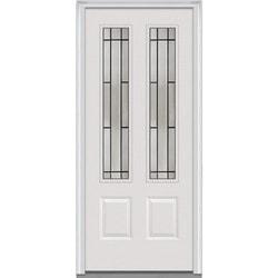 """Solstice Glass Collection Door Build Steel Prehung Entry Door 32"""" X80"""" Exterior Doors Type 151121521 in Canada"""