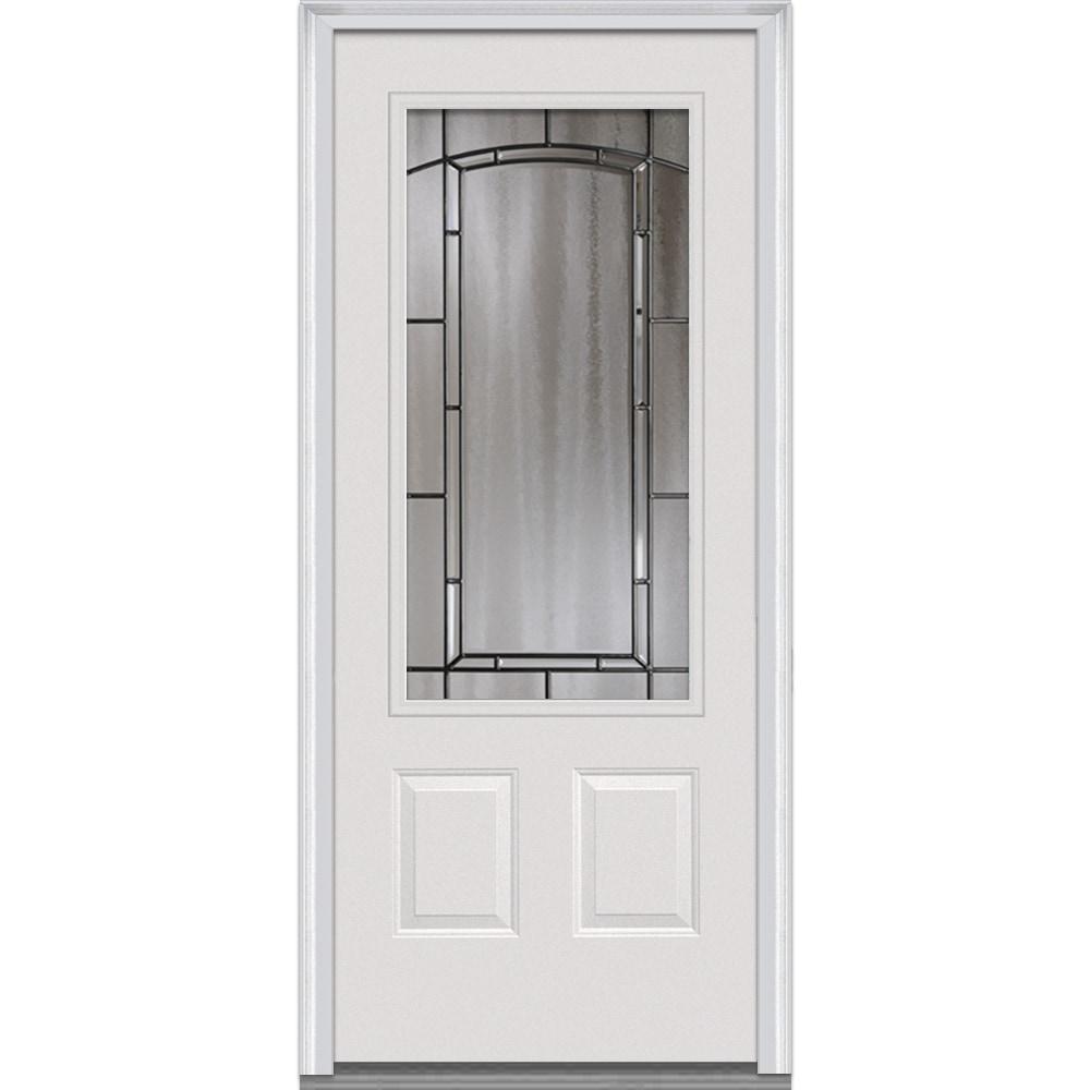 Doorbuild Solstice Glass Collection Steel Prehung Entry Door Primed 32 X80 3 4 Lite 2