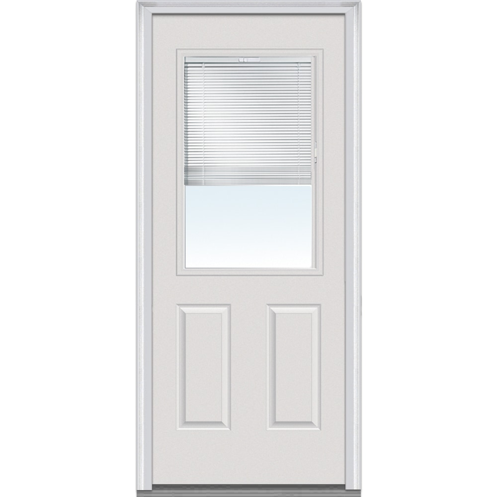 Home Depot Entry Doors With Blinds