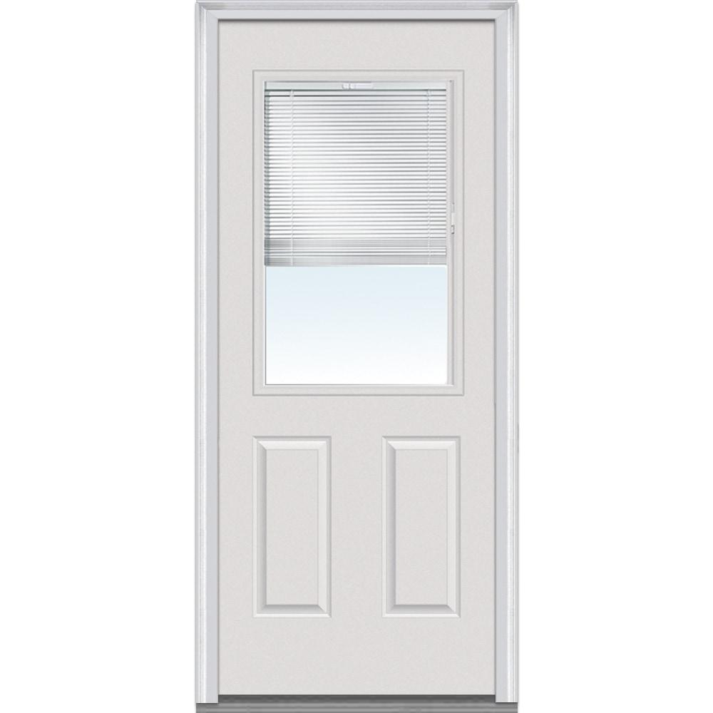 Doorbuild internal mini blinds collection steel prehung - Exterior glass door with built in blinds ...