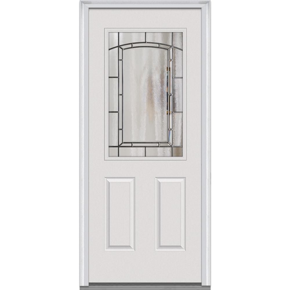 Doorbuild Solstice Glass Collection Steel Prehung Entry Door Primed 32 X80 1 2 Lite 2