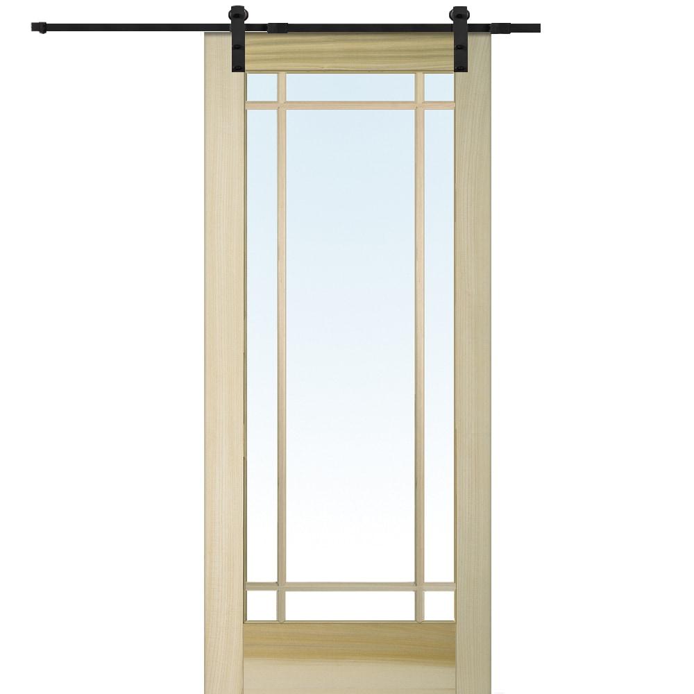Doorbuild french barn door with hardware kit poplar 36 for French door barn door