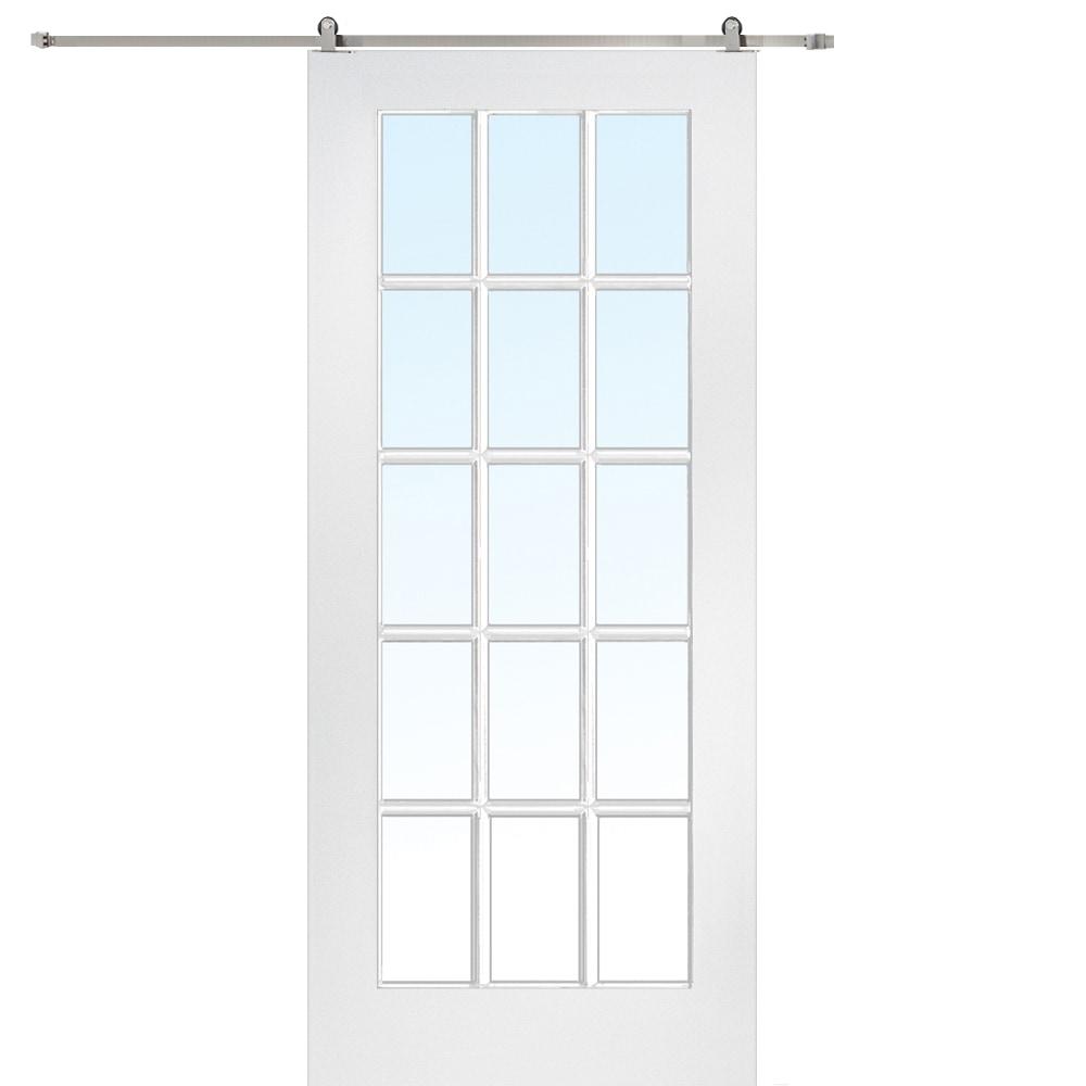 Doorbuild french barn door with hardware kit mdf 32 x80 for French door barn door