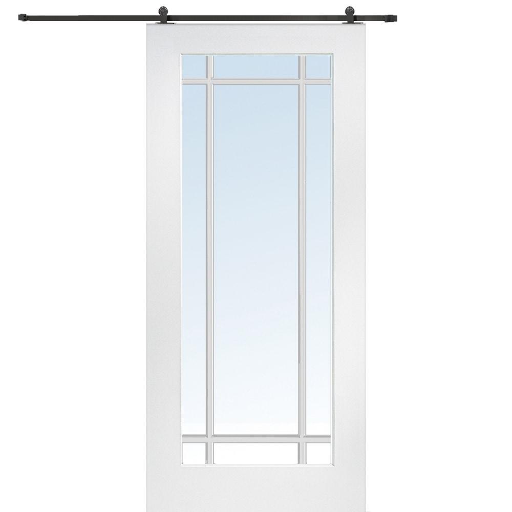 Doorbuild french barn door with hardware kit mdf 36 x80 for Home hardware interior french doors