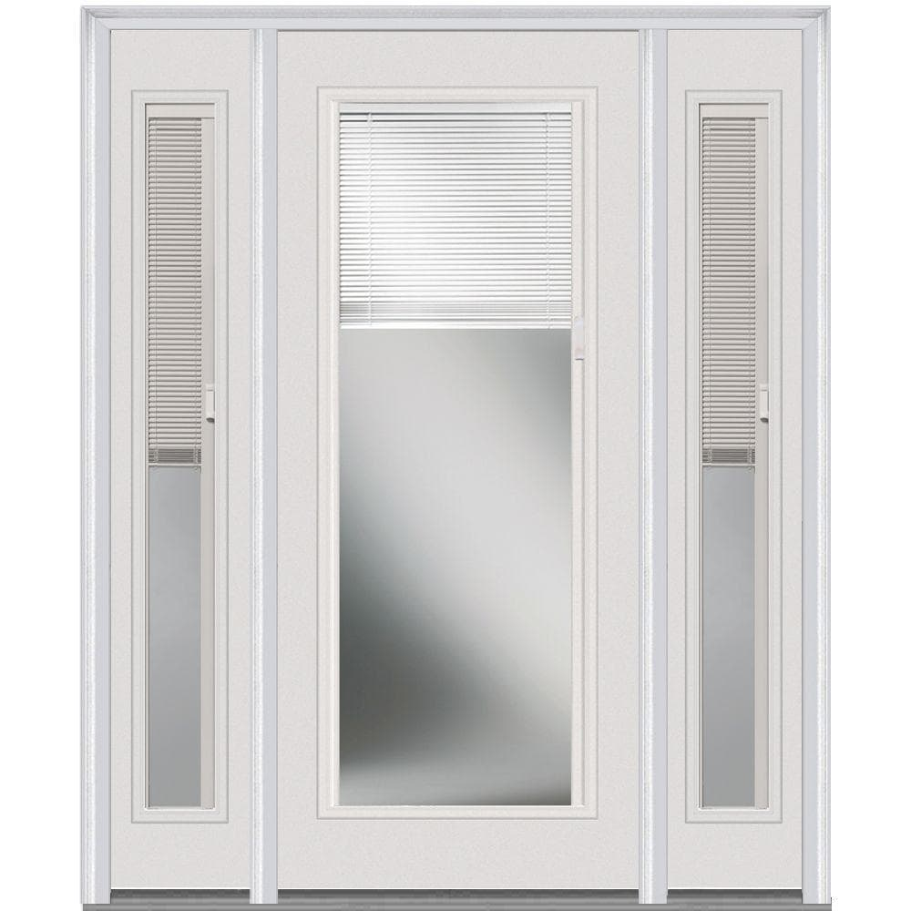 Doorbuild Internal Mini Blinds Collection Fiberglass Smooth Entry Door Brilliant White 36