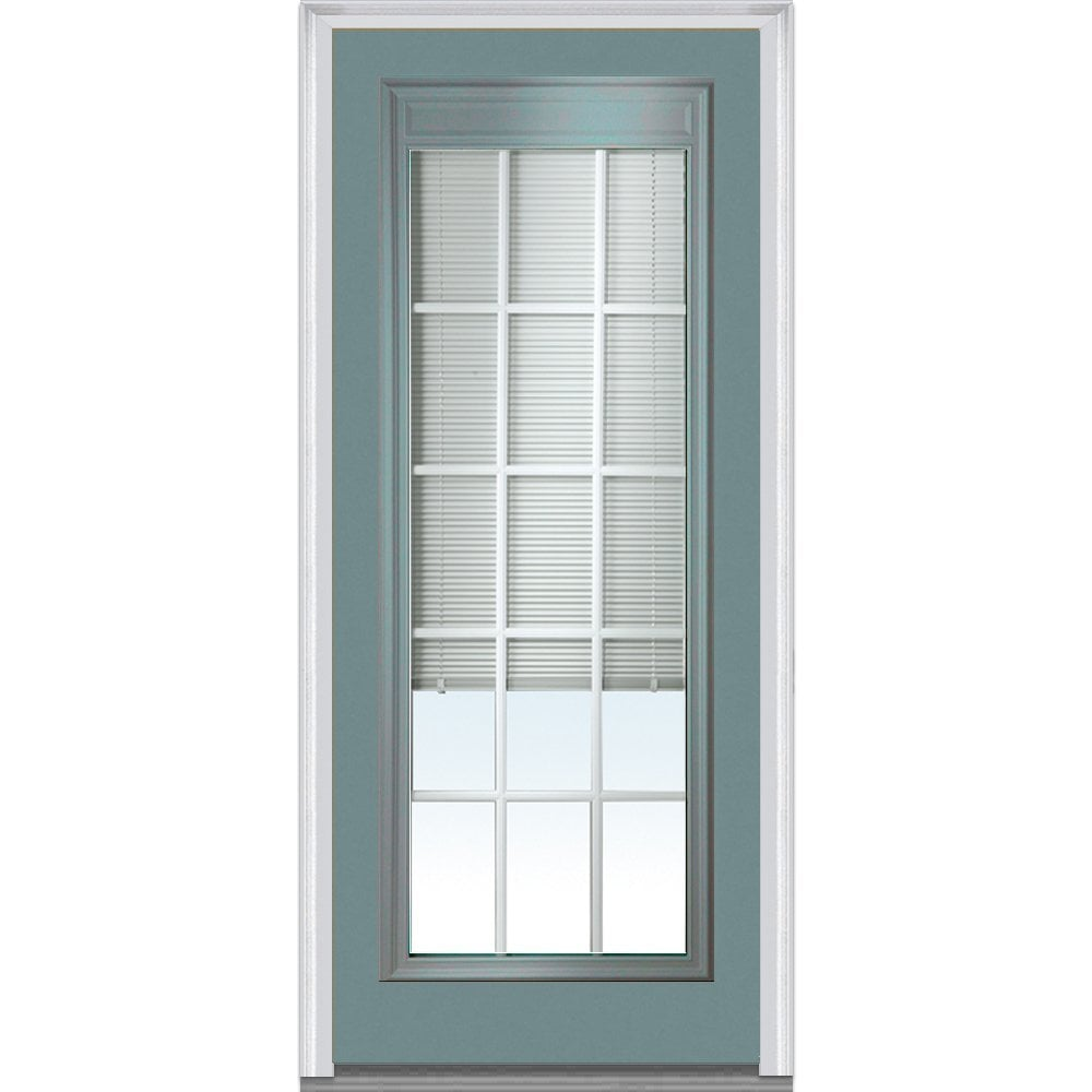 Doorbuild Internal Mini Blinds Collection Fiberglass Smooth Entry Door Riverway 36 X80