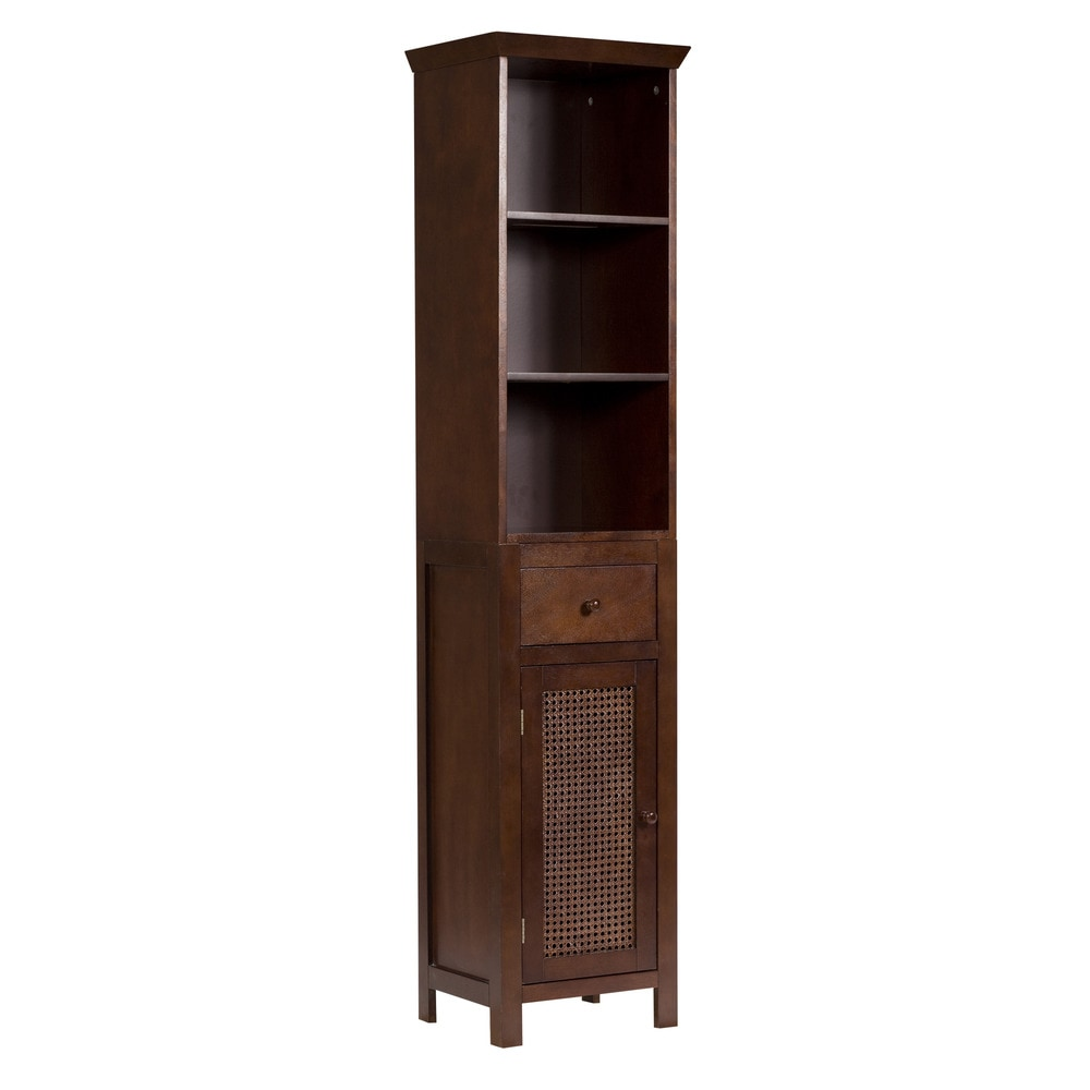Elegant Home Fashions Cane Linen Tower Linen Tower Cane Brown 12 L X 15 W X 65 H 6049
