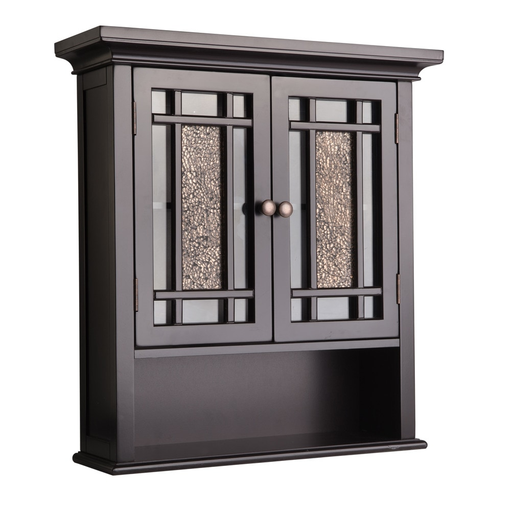 Elegant home fashions windsor wall cabinet with 2 doors and 1 shelf wall cabinet dark espresso - Dark espresso bathroom wall cabinet ...