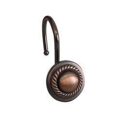 Elegant Home Fashions Shower Hooks Round With Rope Oil Rubbed Bronze Model 151393781 Shower Accessories